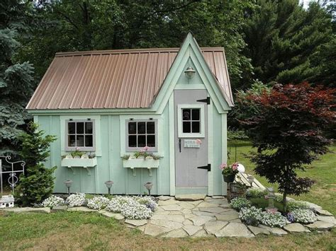 sheds and playhouses tiny green cabins 17 best images about shabby chic office shed ideas on