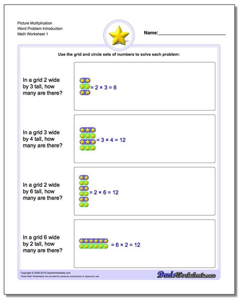 worksheet multiplication and division word problems