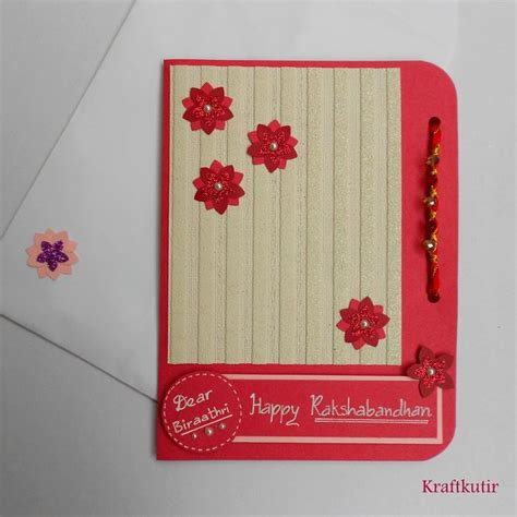 Handmade Greeting Cards For Raksha Bandhan - 17 best images about rakhi card designes on in