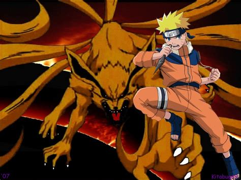 naruto shippuden nine tailed fox mode wallpaper