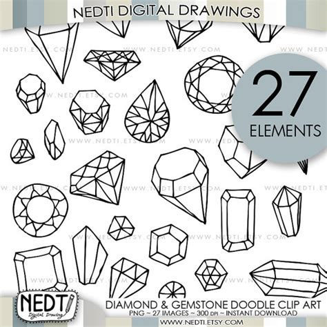make a doodle free and gemstone doodle clip jewelry clipart
