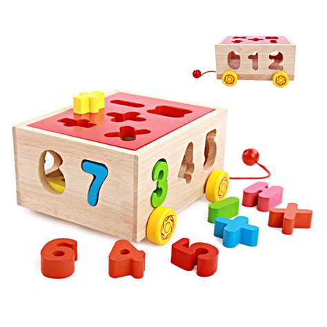 zoetoys big baby intelligence box puzzle new children s educational early childhood drag