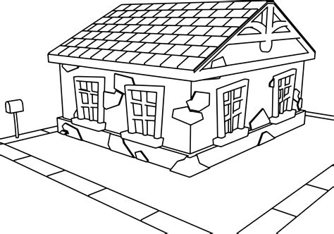 picture of a cartoon house kids coloring europe travel haunted house coloring page coloring pages a house