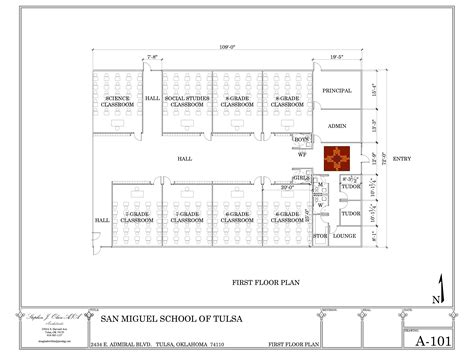 layout of school building san miguel school in tulsa to break ground on new 1 5m