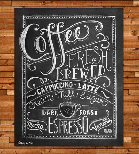 Coffee Love Chalkboard Art Print   Art Prints & Posters