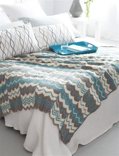 bernat afghan knitting patterns yarnspirations bernat chevron panels