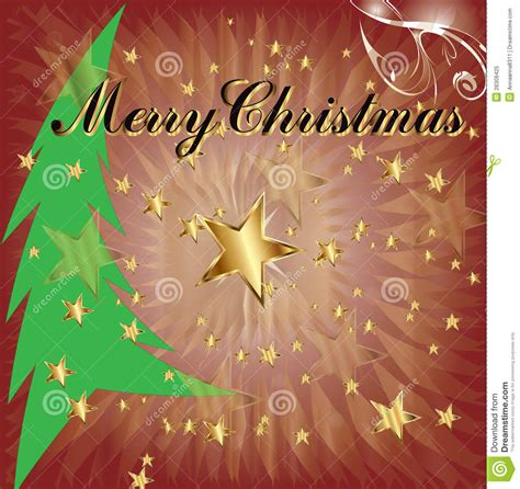 merry christmas  tree stock vector illustration  magic