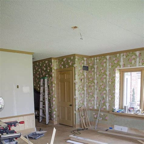 get rid of popcorn ceilings how to get rid of a popcorn ceiling popsugar home