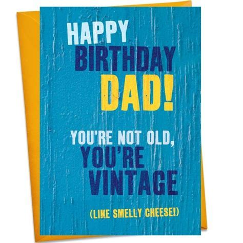 Vintage Cheese Dad Birthday Card   Find Me A Gift
