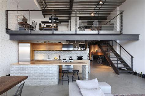 industrial loft decor custom loft style condo in seattle with stylish industrial