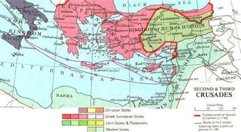 the third crusade map map of the second third crusades c 1140