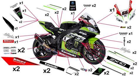 Motorrad Racing Parts by Stickers Kawasaki Racing Sbk 2016 Ninja Zx 10r Abs 2011