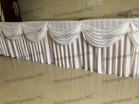 linen table skirts 5 pieces luxury wedding table skirt with swag table skirting with pleated drape table linen in