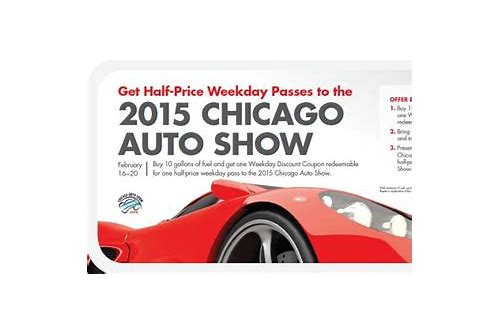 chicago auto show coupons 2018