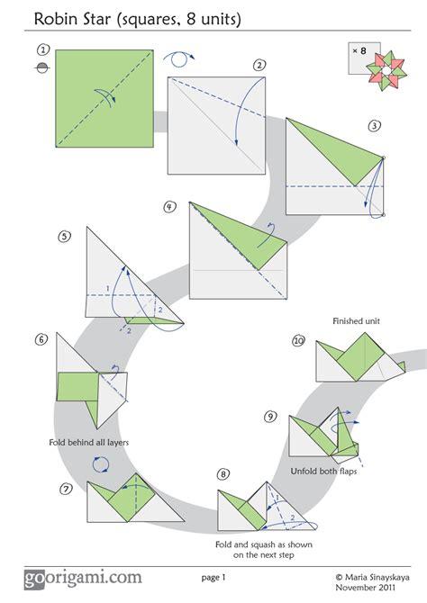 origami modular diagrams modular origami www imgkid the