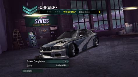 bmw m3 gtr carbon need for speed carbon bmw m3 gtr in career mode nfscars