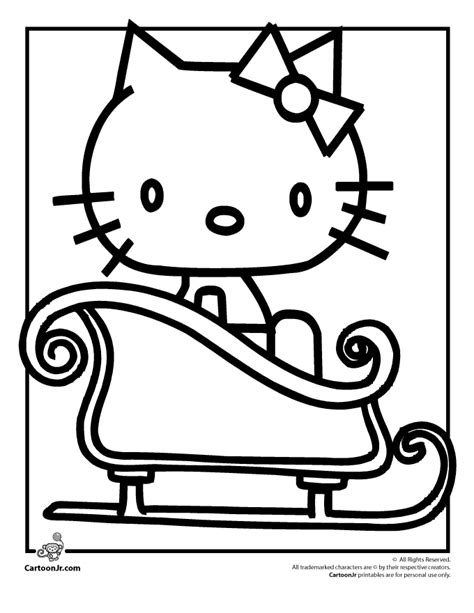 christmas hello kitty coloring pages az coloring pages
