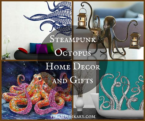 octopus home steunk octopus home decor and gifts