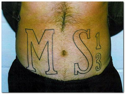 ms 13 tattoo awesome ms 13 tattoos