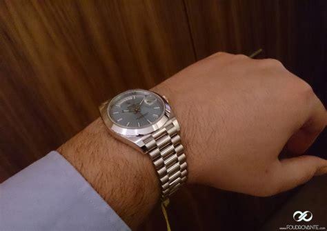 Rolex Day Date 40 Platine 228206   Foudroyante