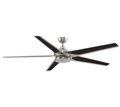 pottery barn ceiling fan subtle indoor outdoor ceiling fan brushed nickel