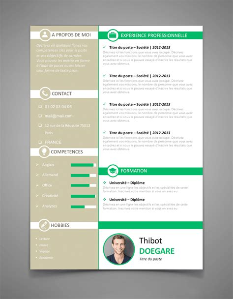 Trame Cv Gratuit Word by Exemple De Cv Invers 233 L Cr 233 Er Un Cv