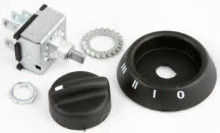 plastic knob and bezel 3 speed rotary heater fan switch