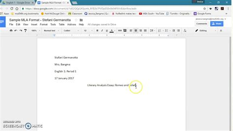 mla template docs mla format for docs