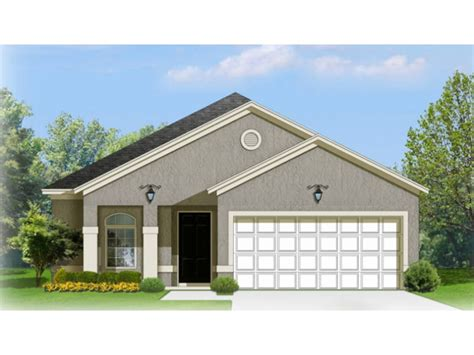 Narrow Lot Ranch House Plans by Narrow Lot Ranch With Attractive Front Porch Hwbdo77105