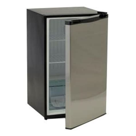 bull 4 5 cu ft mini refrigerator in stainless steel