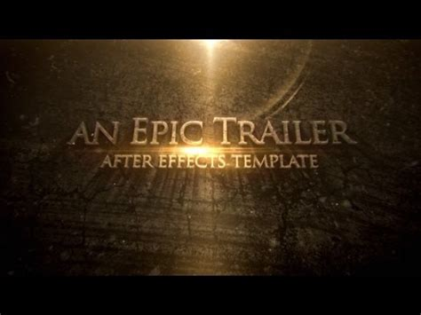 Blockbuster Cinematic Trailer Titles After Effects Project Videohive Template Youtube Circus After Effects Template