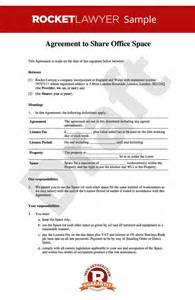 Shared Tenancy Agreement Template office sharing agreement office rental agreement