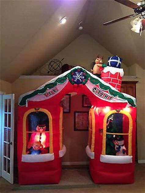 details  halloween inflatable animated gemmy airblown archway haunted house  tall