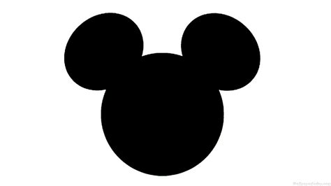 Mickey Mouse Silhouette Clip by Mickey Silhouette Clipart Best