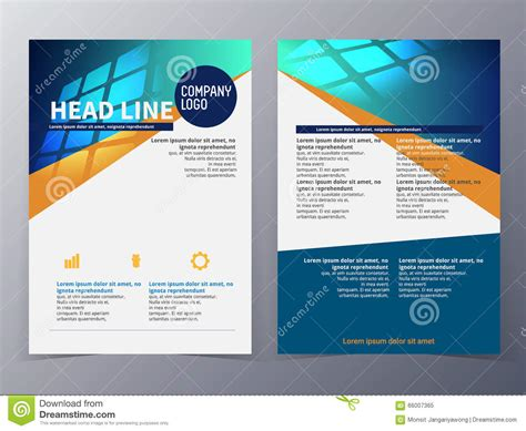 technical brochure template business and technology brochure design template vector