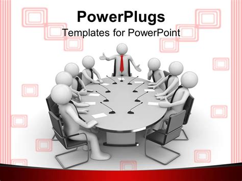Powerpoint Template Business Men Having Meeting Round Meeting Ppt Templates Free