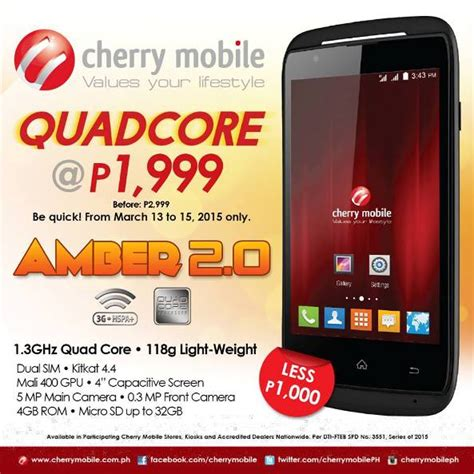 cherry price cherry mobile 2 price drop sells at p1999