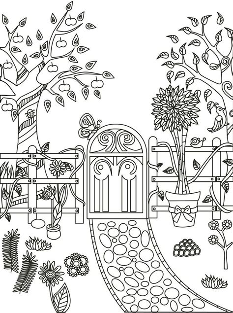 Magical Garden Coloring Book Finished magic garden coloring book finished coloring pages
