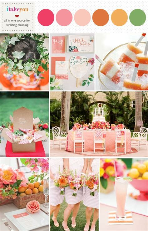 orange color theme best 25 pink yellow weddings ideas on pinterest pink