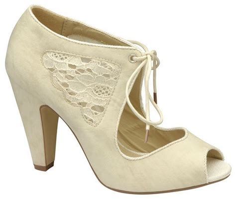 Hochzeitsschuhe Damen Creme peep toe wedding shoes dallashouse