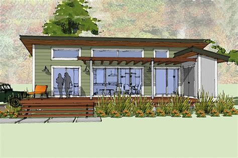 Two Story Bungalow House Plans by Modern Style House Plan 1 Beds 1 00 Baths 640 Sq Ft Plan