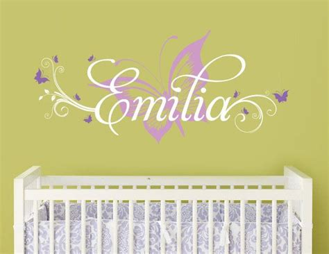 Butterfly Wall Decals For Nursery Butterfly And Custom Name Wall Decal Butterfly Nursery Decal Butterfly Wall Decal For Baby