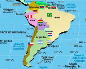 map of south america with countries and capitals manash subhaditya edusoft world atlas and geography