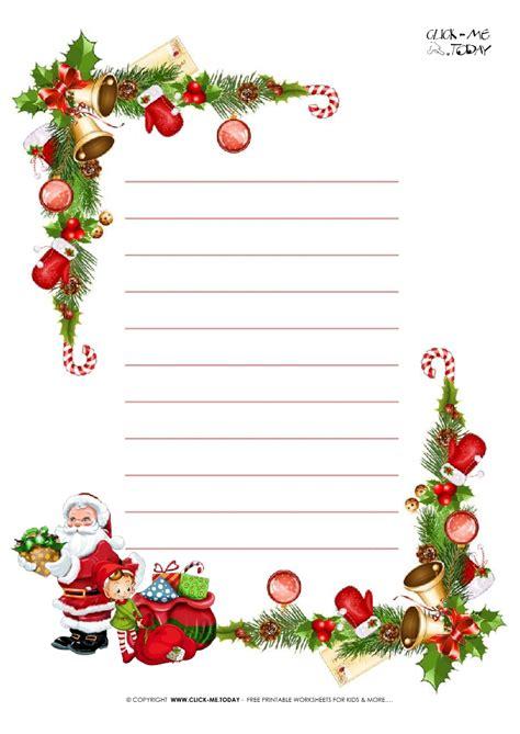 printable christmas paper letter santa template