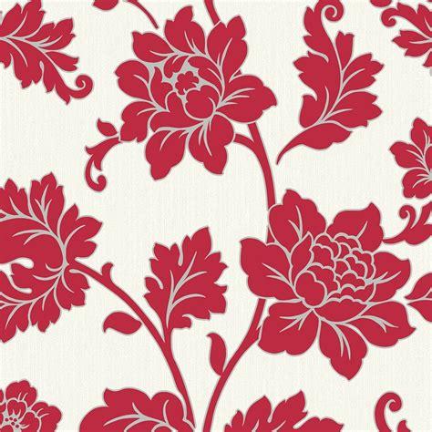 arthouse anya motif floral wallpaper red