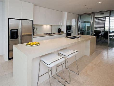 modern kitchen designs with island modern island kitchen design using slate kitchen photo