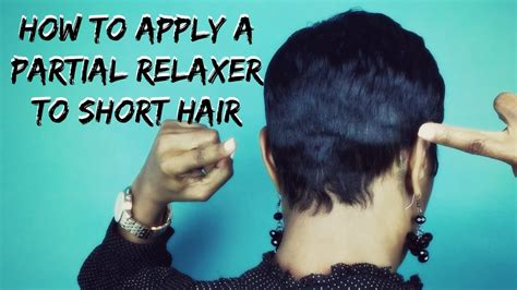 recommmeded relaxers for short hair short hair tutorial how to apply a partial relaxer to