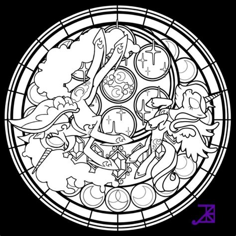 mlp nightmare moon stained glass nightmare moon princess luna colouring pages pinterest