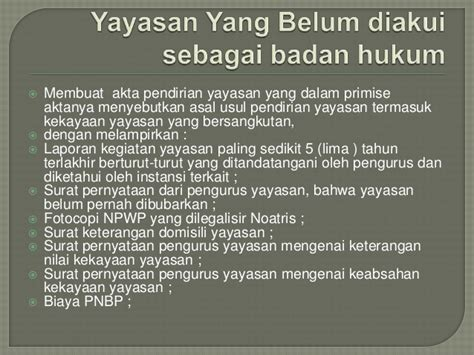 membuat npwp yayasan modul yayasan dalam sabh 22 april 2013