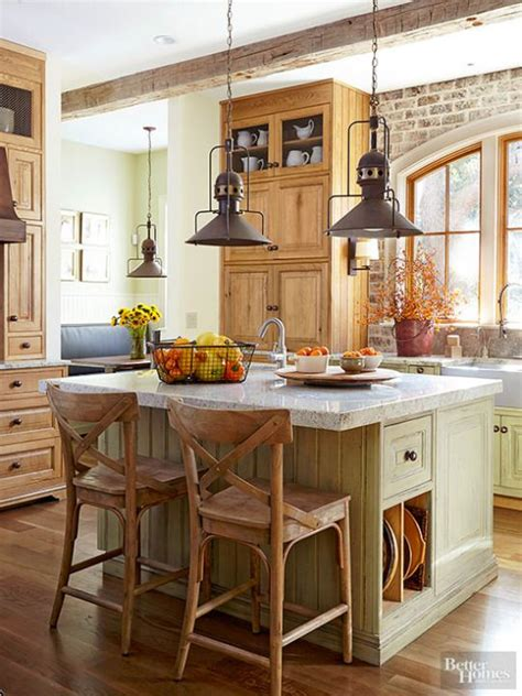 Mixed Wood Kitchen Cabinets Matching Wall And Base Cabinet Color Mixed With Light Stain On Other Cabinets Collected Look
